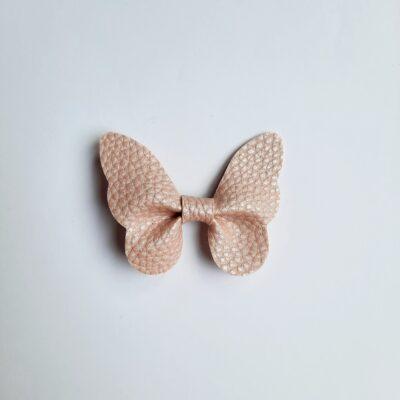 haarspeldjes vlinder metallic licht roze