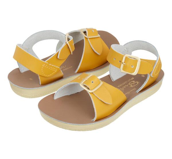 salt-water sandals surfer mustard