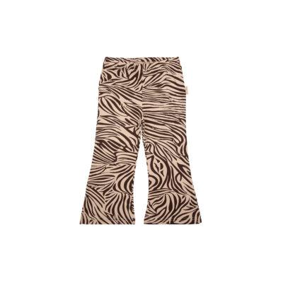 little Indians Flared Pants Zebra - Fondue Fudge