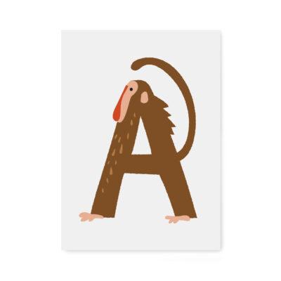 abc-letter kaarten A