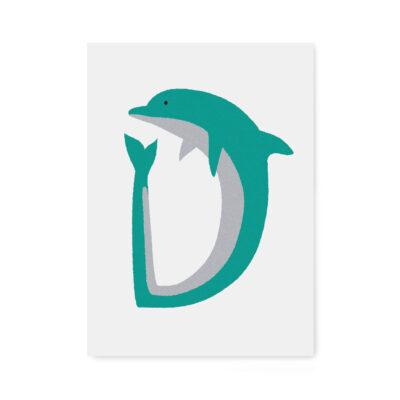 abc-letterkaart D