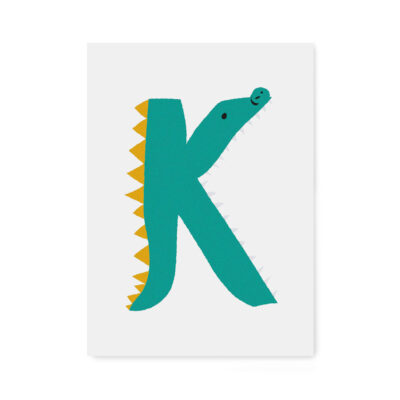 abc-letterkaart K