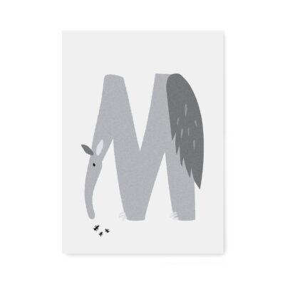 abc-letterkaart M