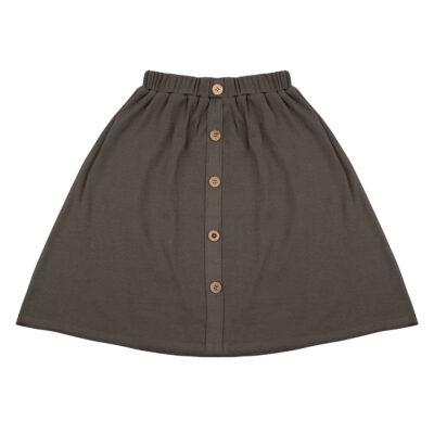 little Indians muslin maxi skirt - dusty olive
