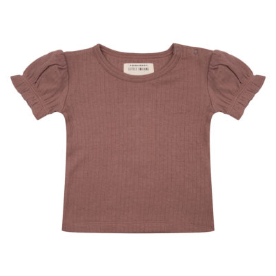 little Indians Shirt Ruffle - Burlwood