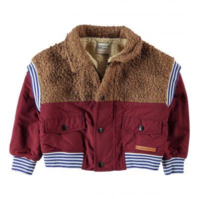 piupiuchick winterjas   brick & brown, multicolor rib