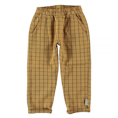 unisex trousers camel checkered_k_1