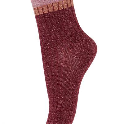 mp denmark Norma sokken glitter Wine Red