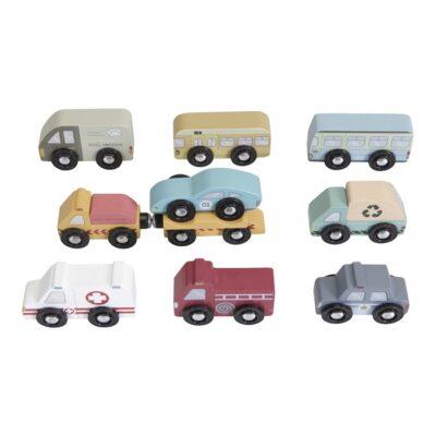 little dutch houten autoset, huplverlener-set