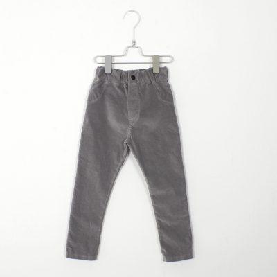lotiekids 5-pocket (cotton velvet) grijs