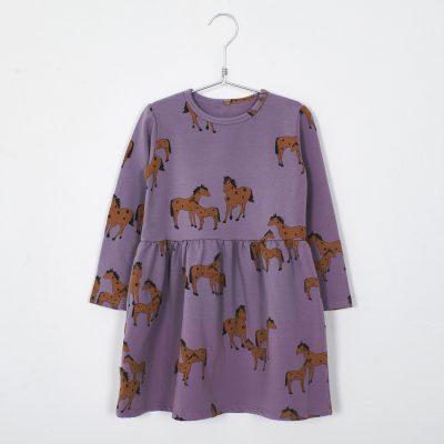 lotiekids jurk horses Lila