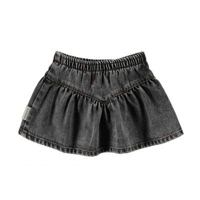 piupiuchick v-shaped rokje washed zwart denim