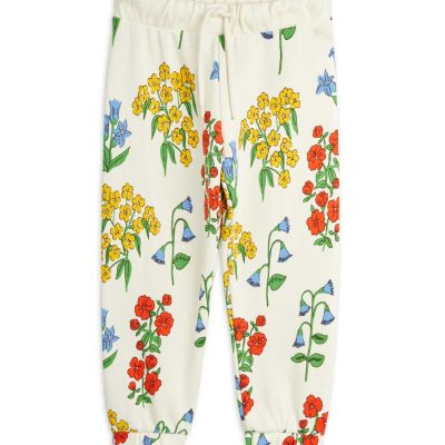 mini rodini Snow flowers aop sweatpants