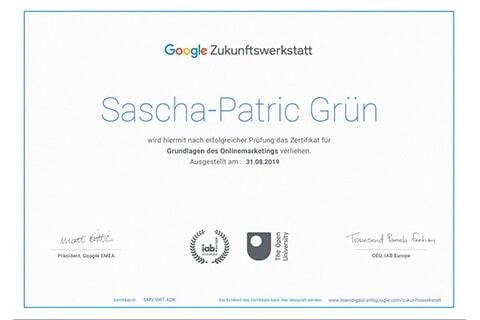 google zertifikat