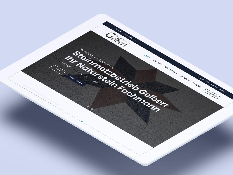 Gelbert-Natursteine - iPad Home