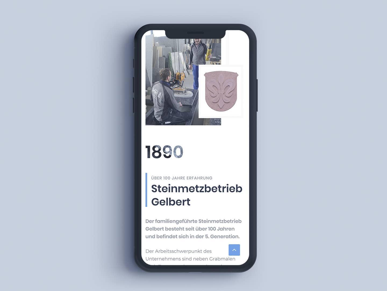 Gelbert-Natursteine - iPhoneX Home