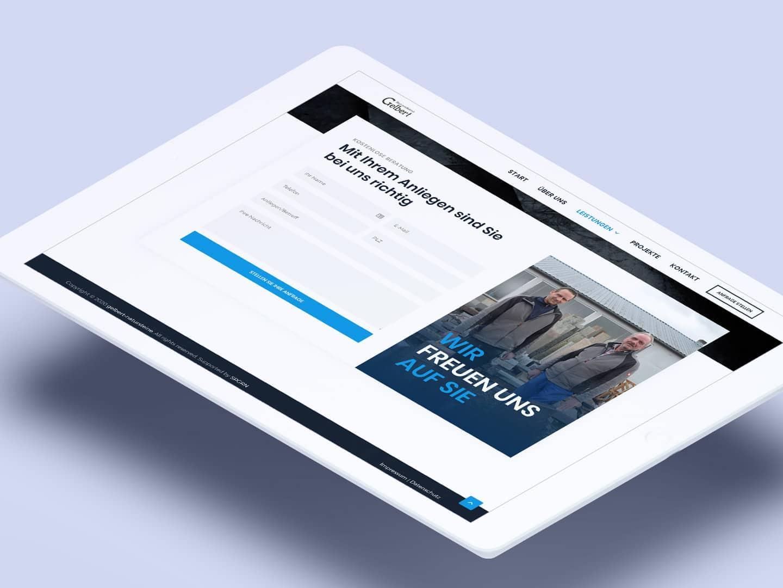 Gelbert-Natursteine - iPad Kontakt
