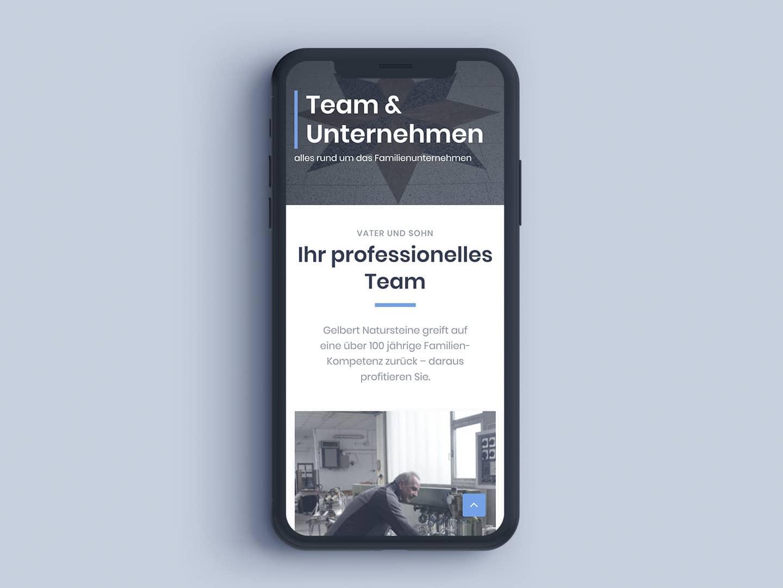 Gelbert-Natursteine - iPhone Team