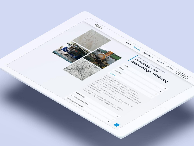 Gelbert-Natursteine - iPad Werkzeug