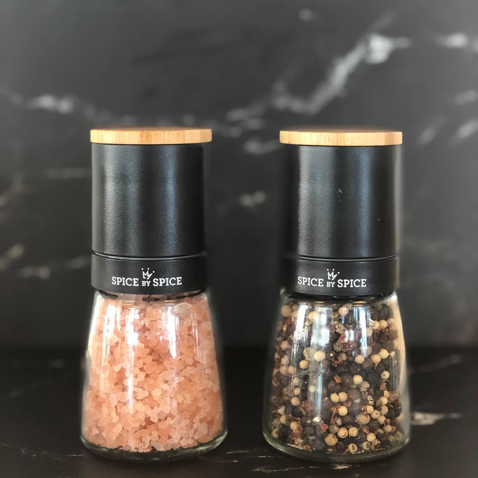 Himalaya salt og original Pepper Mix i keramisk Kværne