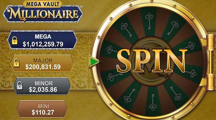 Mega Vault Millionaire- Jackpots am progressiven Glücksrad
