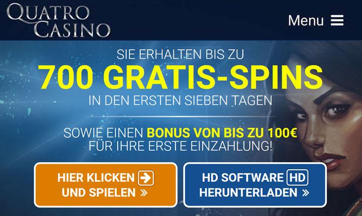 Freirunden und Bonusse auf der Website Quatro Casino