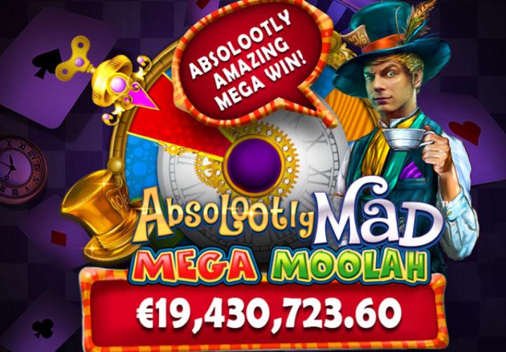 Mega Moolah-Weltrekord auf Absolootly Mad