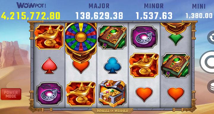 Spielautomat Wheel of Wishes WowPot
