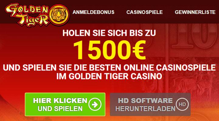 Golden Tiger Casino-Test mit Echtgeld