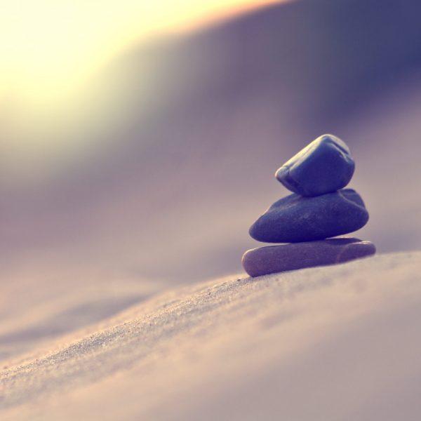 Nature harmony. Pyramid of stones symbol of calm