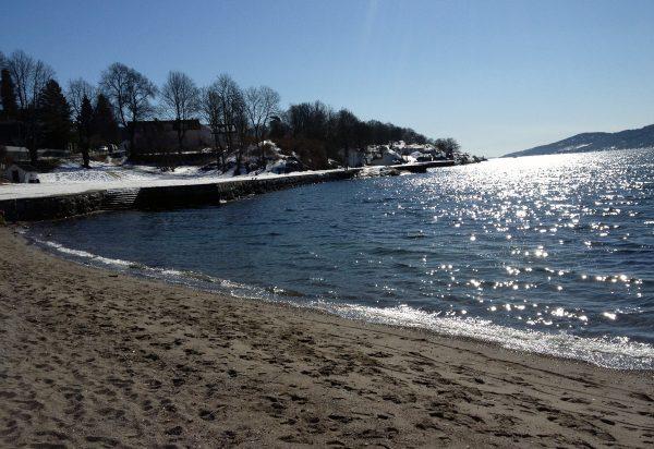 Det er ikke så verst i Drøbak heller en vakker påskedag...