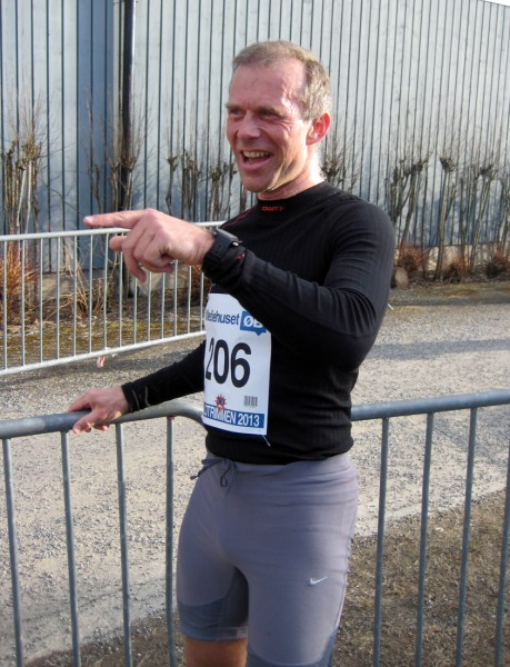 Den satt! Arve ser ut til å være godt fornøyd etter løpet.