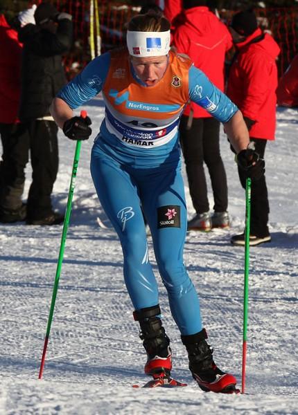 Silje Øyre Slind har hatt sitt gjennombrudd denne sesongen. Her under NM.  Foto: Bjørn Hytjanstorp