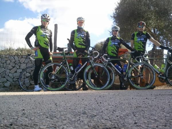 Team Valdres Merida er her på en av to treningsleire på Mallorca før årets sesong. Foto: Fra hjemmesiden