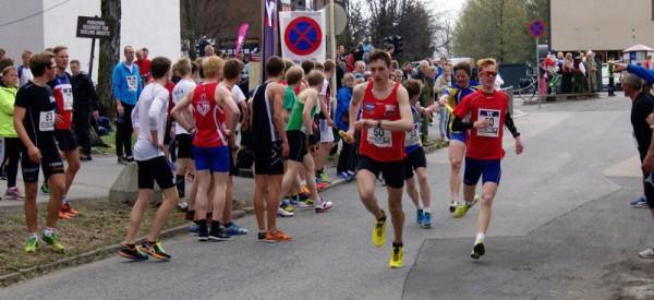 Undheim IL vinner seniorklassen på 56.36, åtte sekunder etter juniorvinnerne. Foto: Njål Ekern