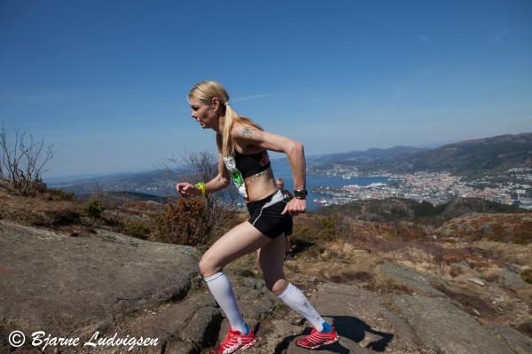 Kirsten Marathon Melkevik satser i år for fullt på motbakkeløp. Det ga to seire i helgen, i tillegg til at hun vant Fløyen Opp. Copyright: Bjarne Ludvigsen