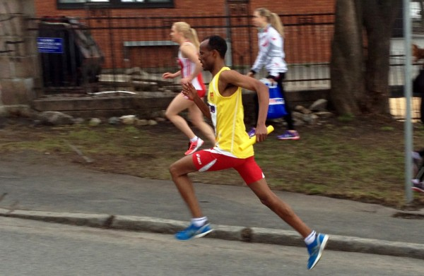 Stilstudie av Weldu Negash. Han løper etappen 4 sekunder raskere enn Blanco på 6.01 og har 6.beste etappetid. Foto: Frode Monsen