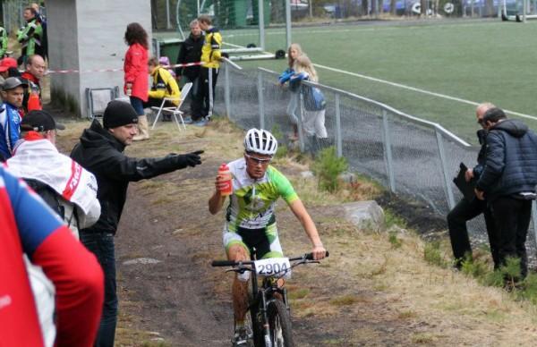 Jenny Rissveds, som også vant lørdagens sprint, sørget for dobbelt svensk i Norgescuprittet.  Foto: Lena Øverbye