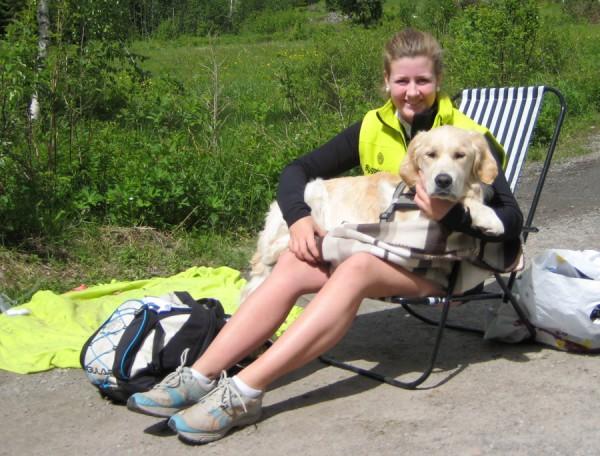 Birkebeinerløpet2013-stemning51-vakt-med-hund