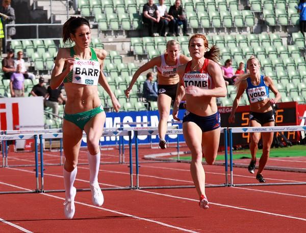 Bislett-Games-2012_Stine-Tomb_Jessie-Barr_400m-Hekk