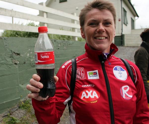 Min kone, Inger Johanne Klokset, var også denne gangen med som heiagjeng og motivator.