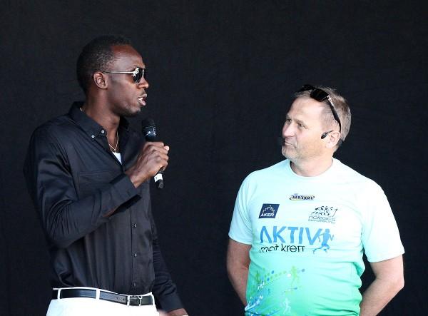 Usain Bolt kastet glans over arrangementet. I morgen blir det mer show da han selv skal i aksjon på 200 meter i Bislett Games. Foto: Bjørn Hytjanstorp, Sportsmanden
