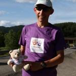 Erik Nossum løper for ME-saken. Foto: Bjørn Hytjanstorp