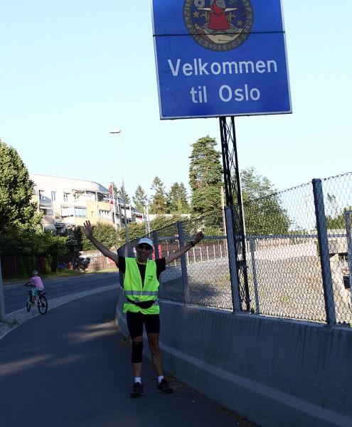 Endelig i Oslo og snart i mål!