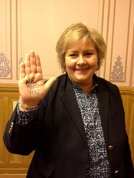 Også Erna Solberg har engasjert seg i ME-saken. Foto: Bjørn Hytjanstorp
