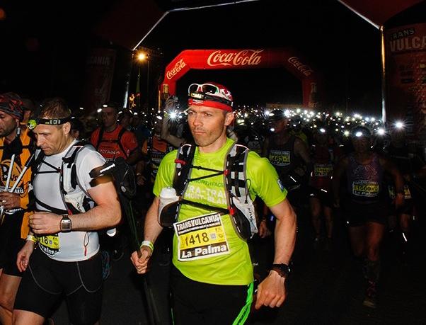 Luca ved start (bilde ©Transvulcania)