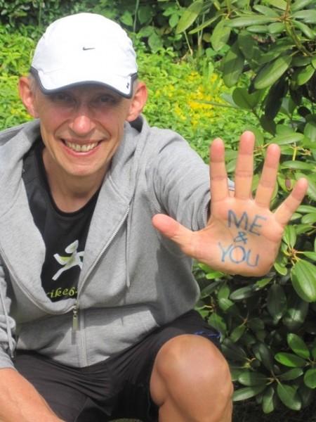 Erik Nossum løper Bergen - Oslo til støtte for ME-saken. Foto: Erik Nossum har selv sendt Sportsmanden dette bildet underveis på sin ferd.
