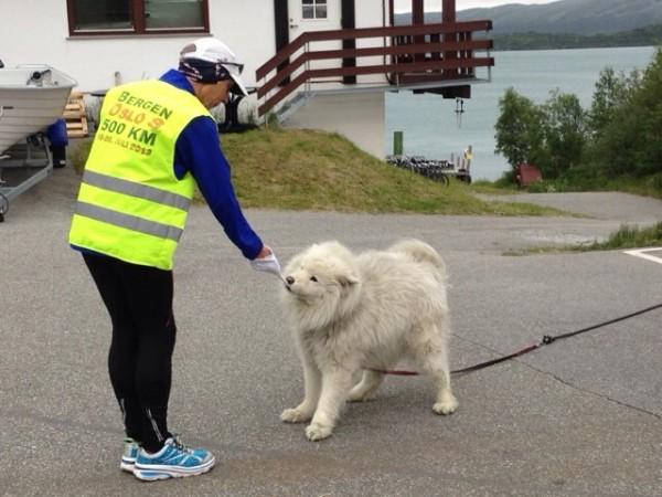 Erik Nossum klar for enda en dag på veien... Foto: Tove Nossum