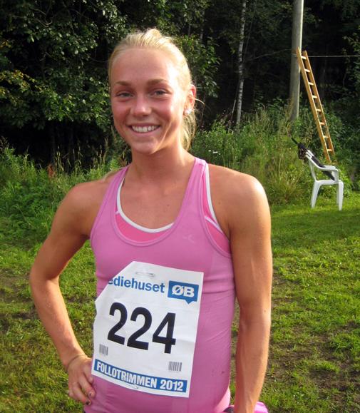 Maren Barlie dukket opp som troll av eske og vant debutløpet på hjemmebane i fjor. Stiller hun igjen på Siggerud i kveld? Foto: Frode Monsen