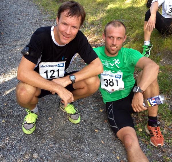 Geir Simonsen (t.v.) var hakket hvassere enn Marius Borger denne gangen også, og de to skiløperne var sterkest også i Follotrimmens 6.løp. Foto: Sportsmanden / Frode Monsen